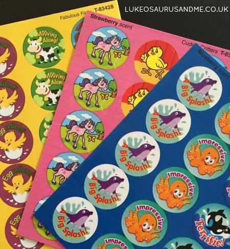 Scented Sticker Review at lukeosaurusandme.co.uk