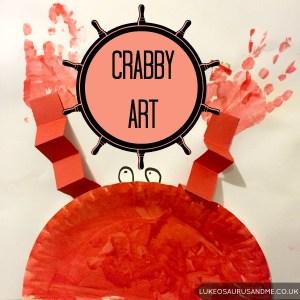 Ocean Themed Crab Art for toddlers by lukeosaurusandme.co.uk