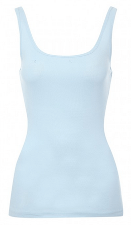 Pale blue vest top from lukeosaurusandme.co.uk