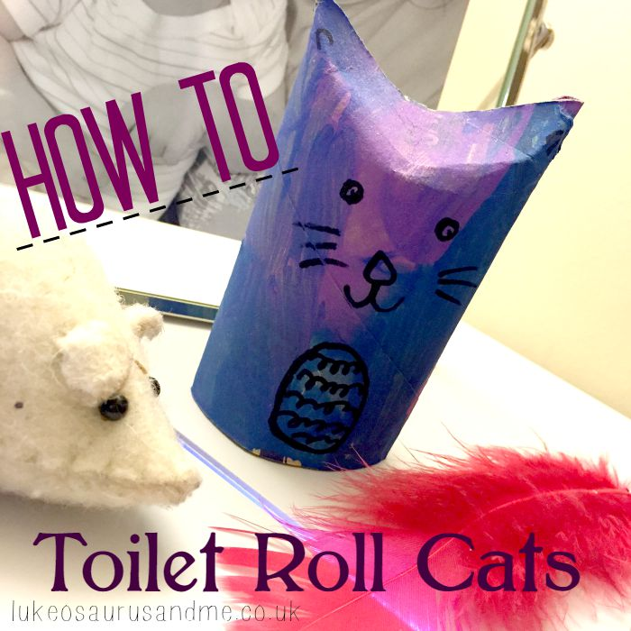 A step by step guide on making cats from toilet rolls by lukeosaurusandme.co.uk