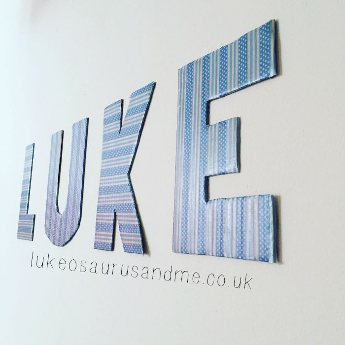 Playroom, nursery, kids bedroom name decor hack by lukeosaurusandme.co.uk