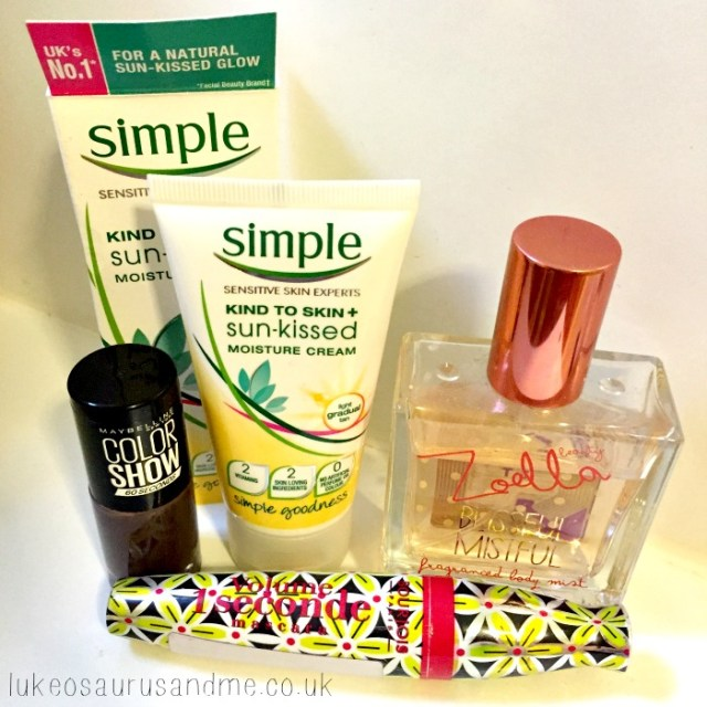 September Beauty Favourites, including Zoella Blissful Mistful and Simple Skin Care by lukeosaurusandme.co.uk