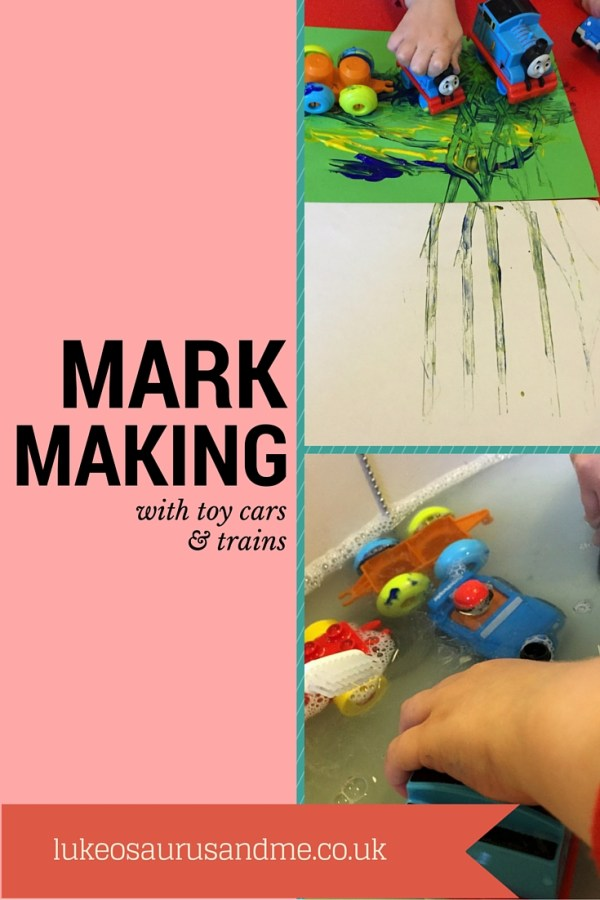Mark Making with Toy Cars and Trains http://lukeosaurusandme.co.uk @gloryiscalling