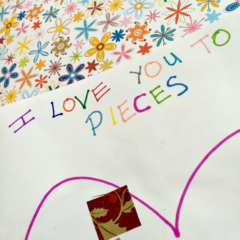 I love you to pieces toddler valentines day card at http://lukeosaurusandme.co.uk