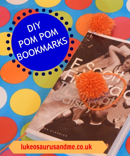 DIY Pom Pom Bookmarks at https://lukeosaurusandme.co.uk @gloryiscalling