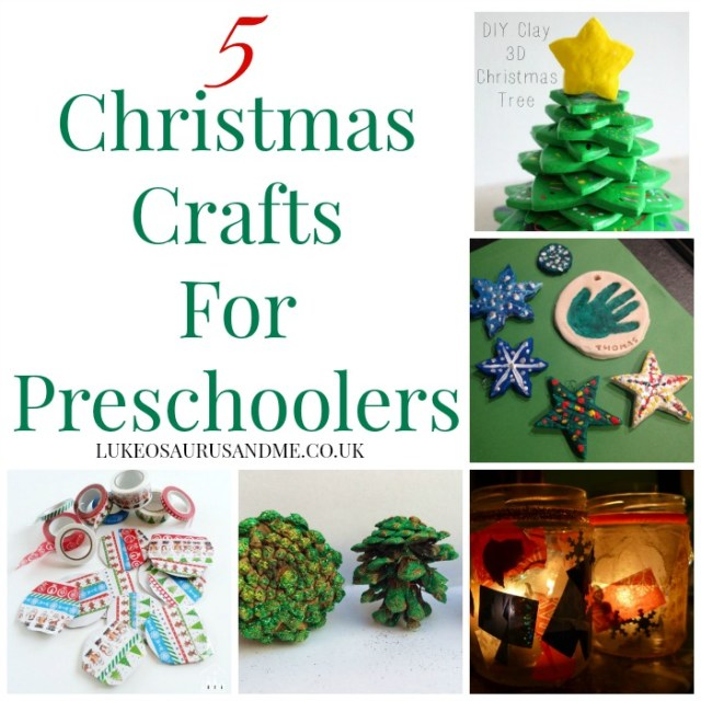 5 Christmas Crafts for preschoolers and children at family and lifestyle blog, https://lukeosaurusandme.co.uk