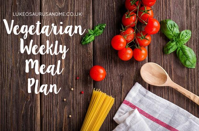 Money: Vegetarian Weekly Meal Plan #1