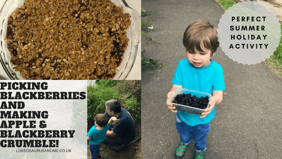 Going Blackberry Picking And Making Apple and Blackberry Crumble