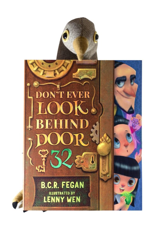 Don't Ever Look Behind Door 32 by B.C.R Fegan and Lenny Wen. Children's book review at https://lukeosaurusandme.co.uk