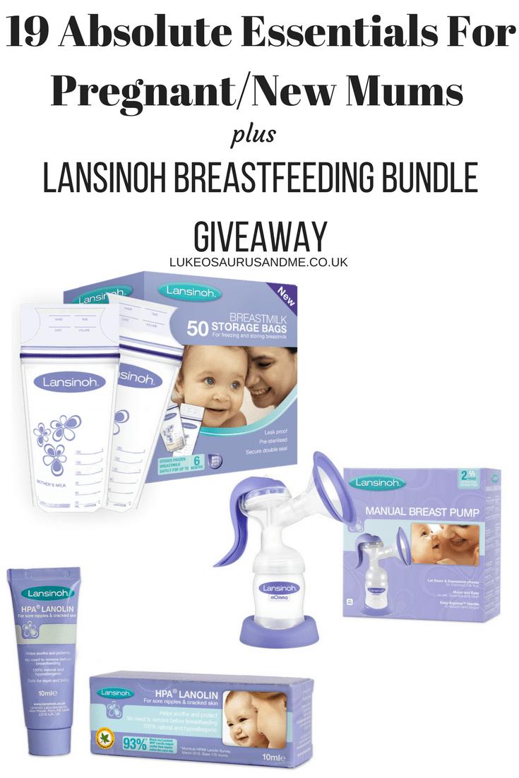 19 Absolute Essentials For PregnantNew Mums + Lansinoh Breastfeeding Bundle Giveaway at https://lukeosaurusandme.co.uk