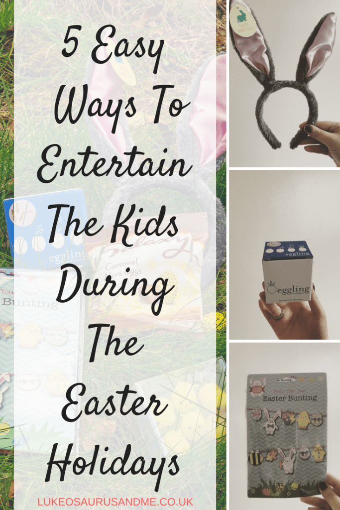 5 easy Easter crafts and activities for kids to do during the school Easter holidays. For more ideas on what to do with the children during the Easter holidays, visit the blog at https://lukeosaurusandme.co.uk