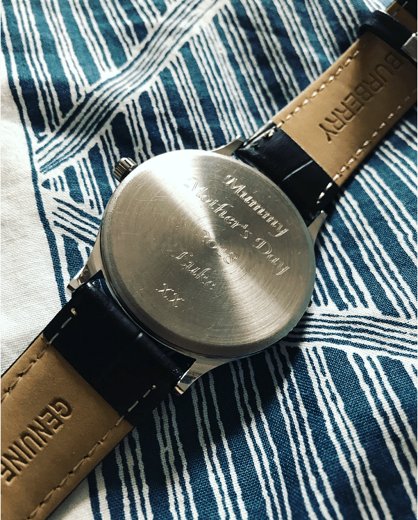 Personalised engraved women's watches and other great Mother's Day gifts from Gifts Online 4 U - see full Mother's Day gift guide at http://lukeosaurusandme.co.uk