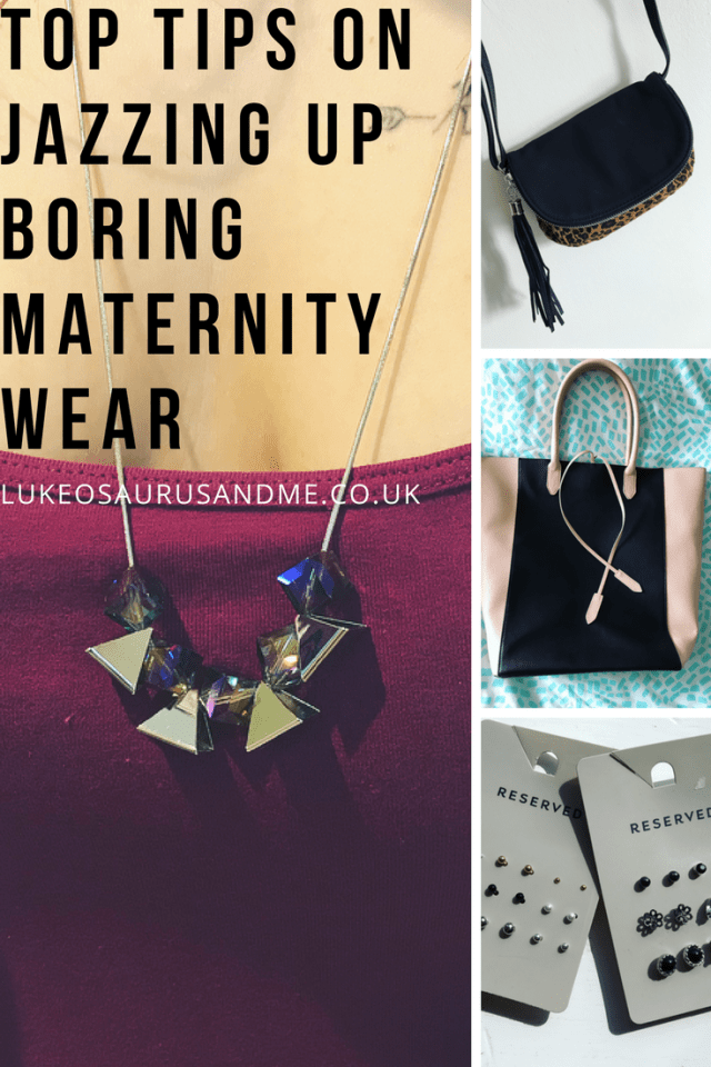 Easy ways to style out maternity wear so you look chic, not frumpy when going through your pregnancy! Find more tips at https://lukeosaurusandme.co.uk