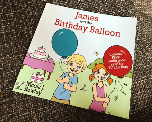 James and the Birthday Balloon children's book review at https://lukeosaurusandme.co.uk
