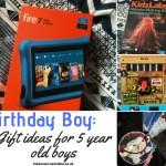 Birthday gift ideas for 5 year old boys at https://lukeosaurusandme.co.uk
