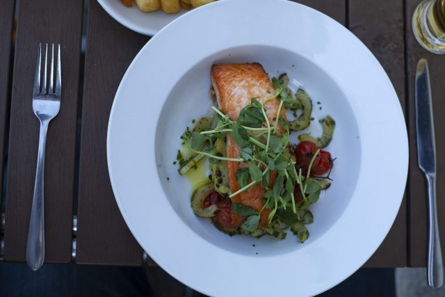 Salmon special at The Bandstand, Sandown in the Isle Of Wight as part of Red Funnel Ferry's self guided day trip packages to the Isle Of Wight at https://lukeosaurusandme.co.uk