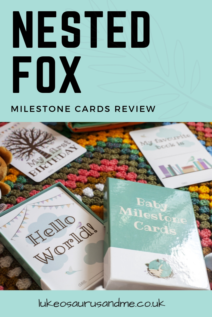 Nested Fox Milestone Card Gift Set review at https://lukeosaurusandme.co.uk
