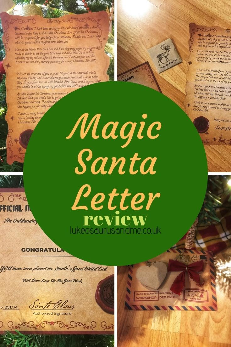 Magic Santa Letter review at https://lukeosaurusandme.co.uk