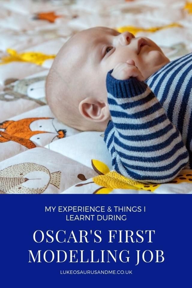 Oscar's first professional modelling job at https://lukeosaurusandme.co.uk