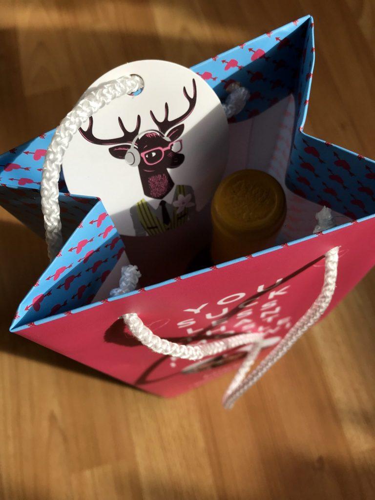 Vanilla Reindeer personalised gift bags for Valentine's Day at https://lukeosaurusandme.co.uk