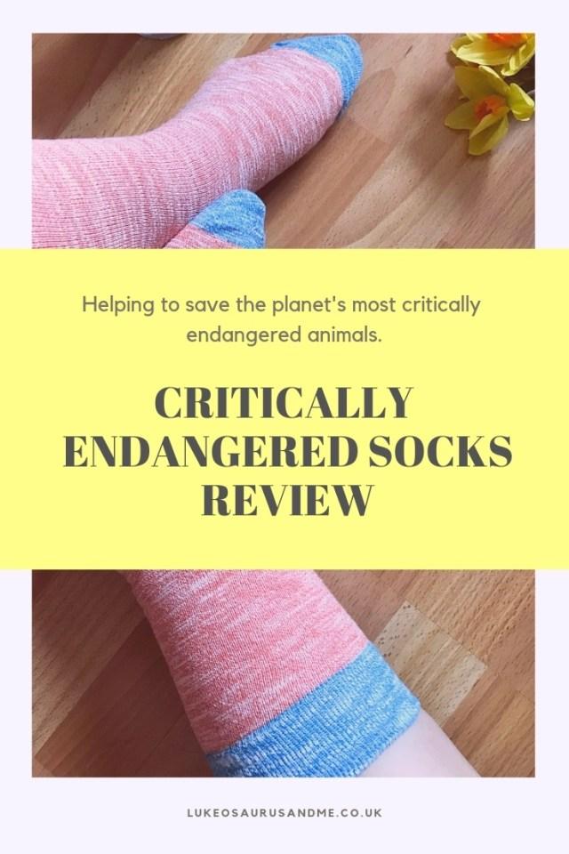 Critically Endangered Socks sell socks which help endangered animals lives. Read more at https://lukeosaurusandme.co.uk