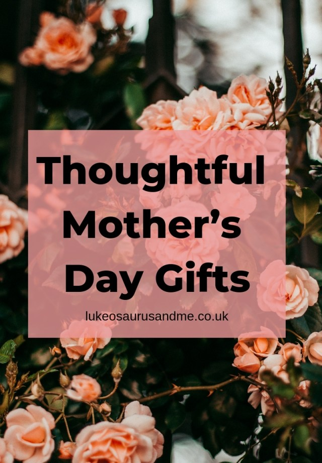 Great Mother's Day gifts to suit all budgets - read more at https://lukeosaurusandme.co.uk