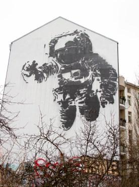Astronaut Mural by Victor Ash, Kreuzberg