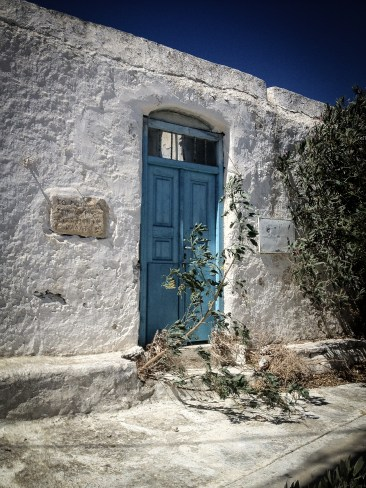Old door in Ano Mera, Mykonos