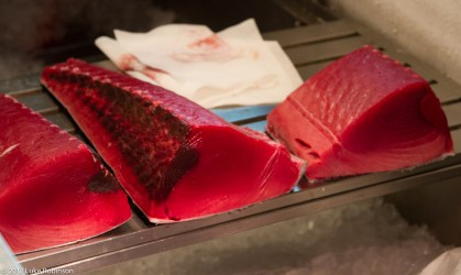 Fresh tuna for sale, Tsukiji Fish Market