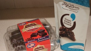 Lily O'Brien Chocolate Cookie Crunch and American Muffin Company Glutten Free Brownies