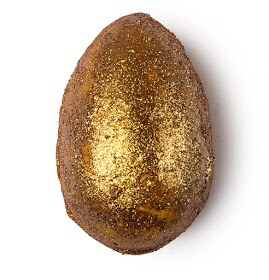 A picture of the Lush Golden Egg Bath Bomb.