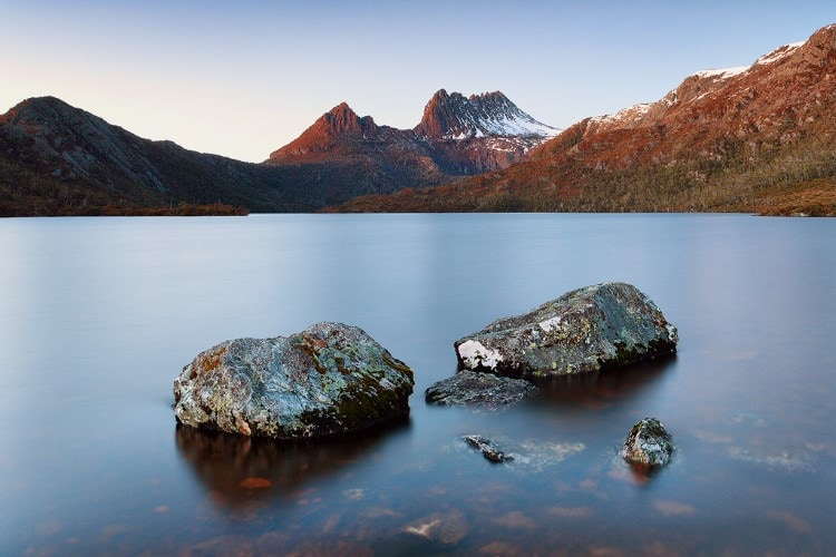 View of Cradle Mountain from Dove Lake. Take in this view before you start the Overland Track at Ronny Creek.