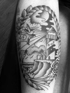 On Kirk who rules and gets the coolest tattoos. sXe fam
