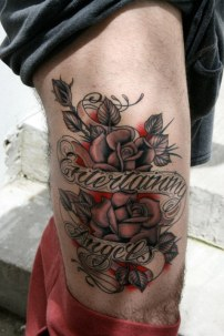 """My mom use to say """" be careful how you treat strangers, you never know when your Entertaining Angels"""" On Steven in Miami Fla at Miami Ink aka Love Hate"""