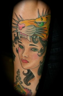 Did this on a TV show called World wide tribe that never aired. Lovely tattoo on a lovely lady