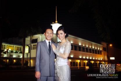 Foto Prewedding malam surabaya