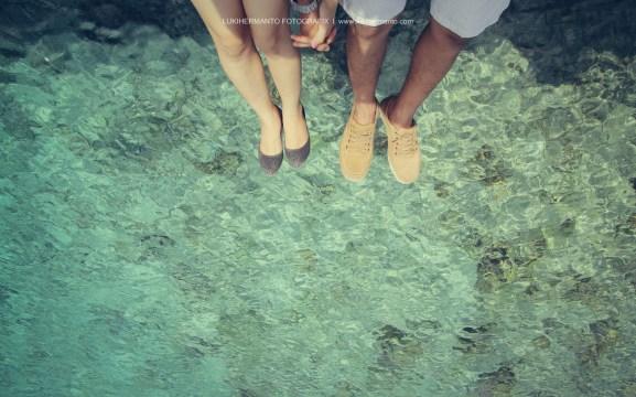 prewedding romantis pantai bali