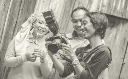 behind the scene foto prewedding muslim