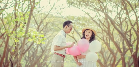 prewedding vintage balon