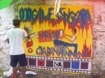 Gambar lukisan mural, grafiti atau lukisan dinding 038
