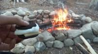Vor unserem Feuer zeigt ein Reverse Smores seine ganze Schönheit