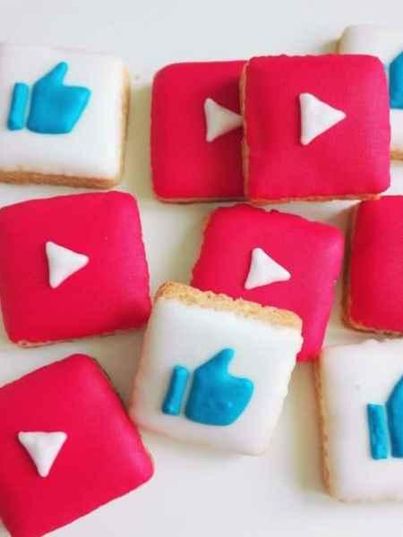 Lukrowane ciasteczka Basia sweets, na zamówienie