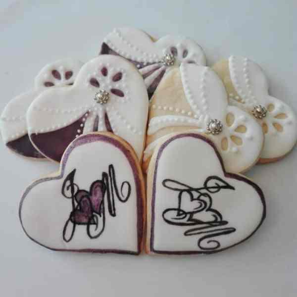 podziękowania ślubne, lukrowane ciasteczka na zamówienie, pierniczki, ciastka, podziękowania dla gości weselnych
