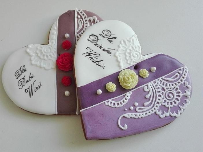 lukrowane ciasteczka na zamówienie, pierniczki dla Babci i Dziadka, ciastka, podziękowania dla gości