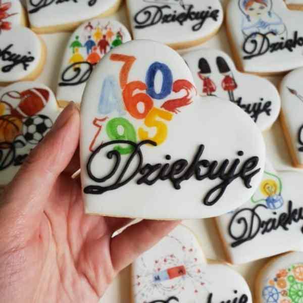lukrowane ciasteczka dla nauczyciela matematyki, podziękowanie dla nauczyciela, Basia sweets