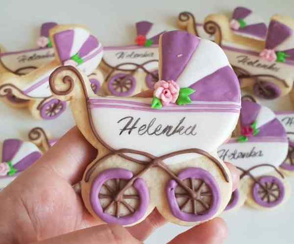 lukrowane ciasteczka na chrzciny, podziękowanie dla gości chrzest, dla dziewczynki, Basia sweets
