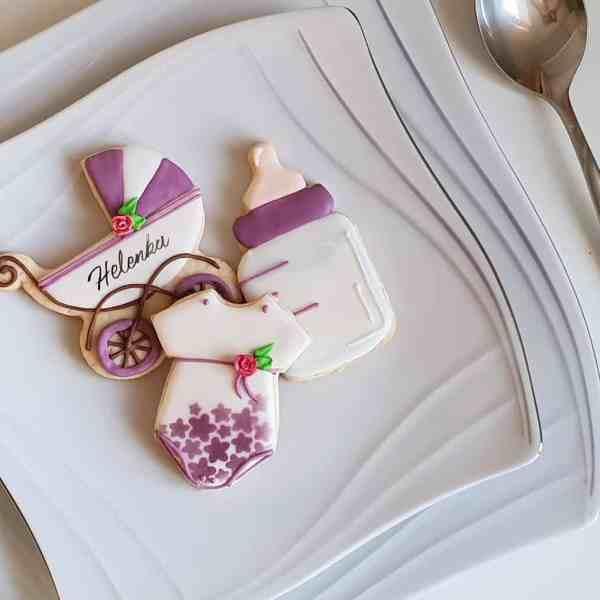 Podziękowania dla gości Chrzest Święty, lukrowane ciasteczka z okazji chrztu, chrzciny
