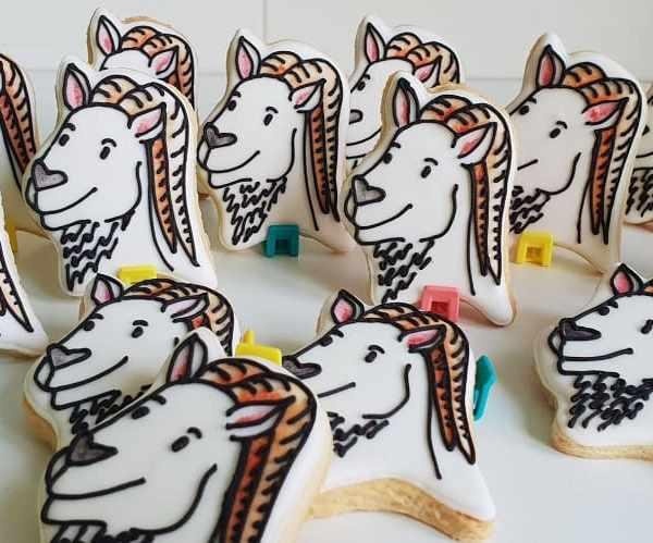 Lukrowane ciasteczka z grafiką, Lublin, Koziołek Lubelski, personalizowane pierniczki, podziękowania dla gości - Basia sweets