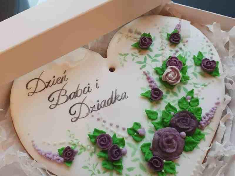 Pierniczki Dzień Babci i Dziadka, lukrowane ciasteczka, pierniczki okazjonalne - Basia sweets