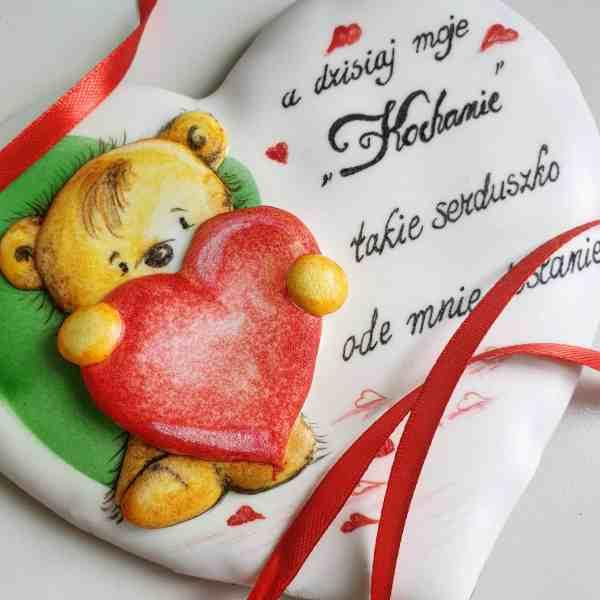 Lukrowane ciasteczka, walentynki, ręcznie lukrowane pierniczki Basia sweets